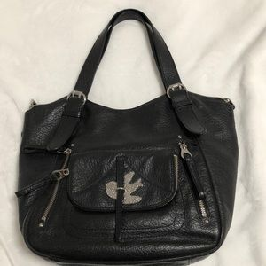 Marc Jacobs Petal to the Metal black leather tote